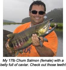 Colin with his 17lb Chum Salmon