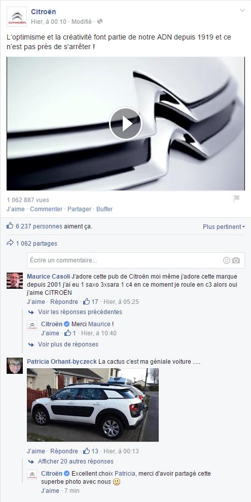 Facebook : des avis et commentaires clients constructifs