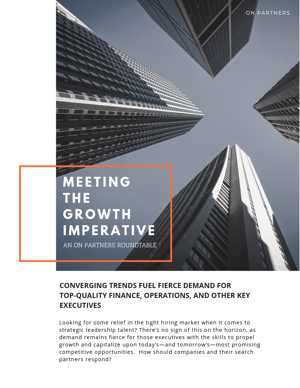 Meeting The Growth Imperative