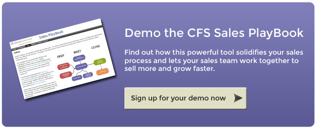 Demo the CFS Sales PlayBook