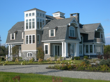 New england shingle style scarborough me for New england style homes