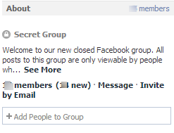 Secret Groups on Facebook
