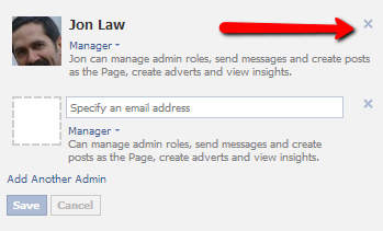 how to change admin on facebook business page