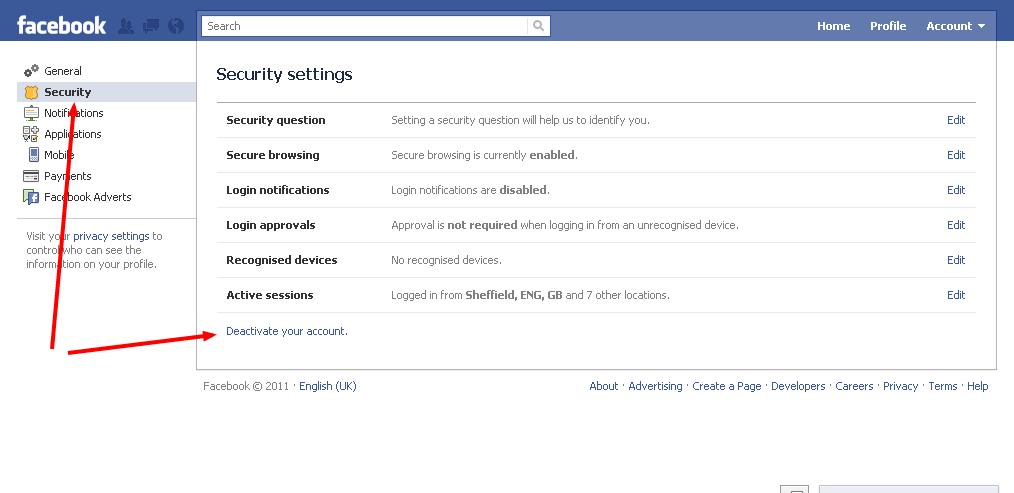 Deactivating or Deleting a Facebook - 33.7KB