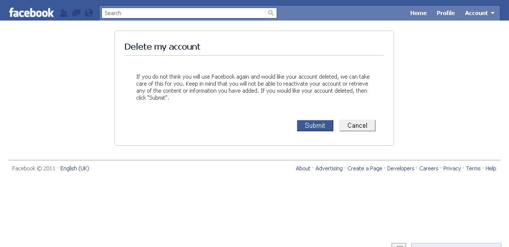 Deactivating or Deleting a Facebook - 23.5KB