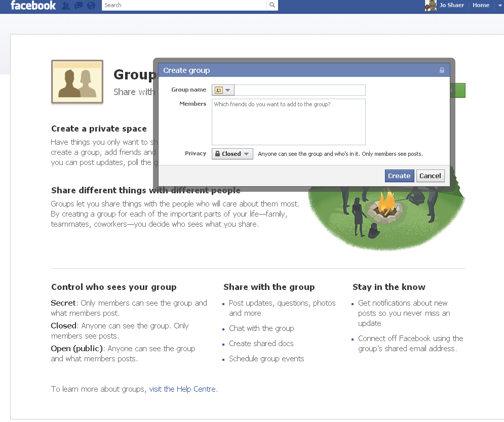 how to open a secret group on facebook