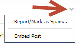 embed facebook posts from other pages on your website drop down menu