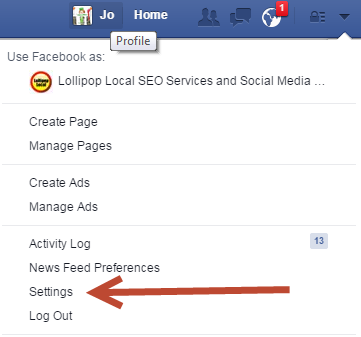 where is the activity log on my facebook business page