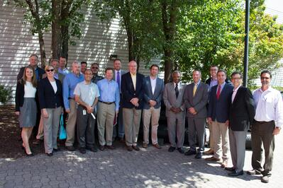 Congressman David Scott Tours Tensar's Georgia Factory, Supports Key Infrastructure Initiatives