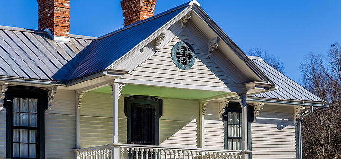 Roof replacement on historic home