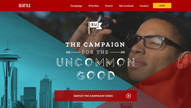 Fundraising Campaign Website Hero SeattleU