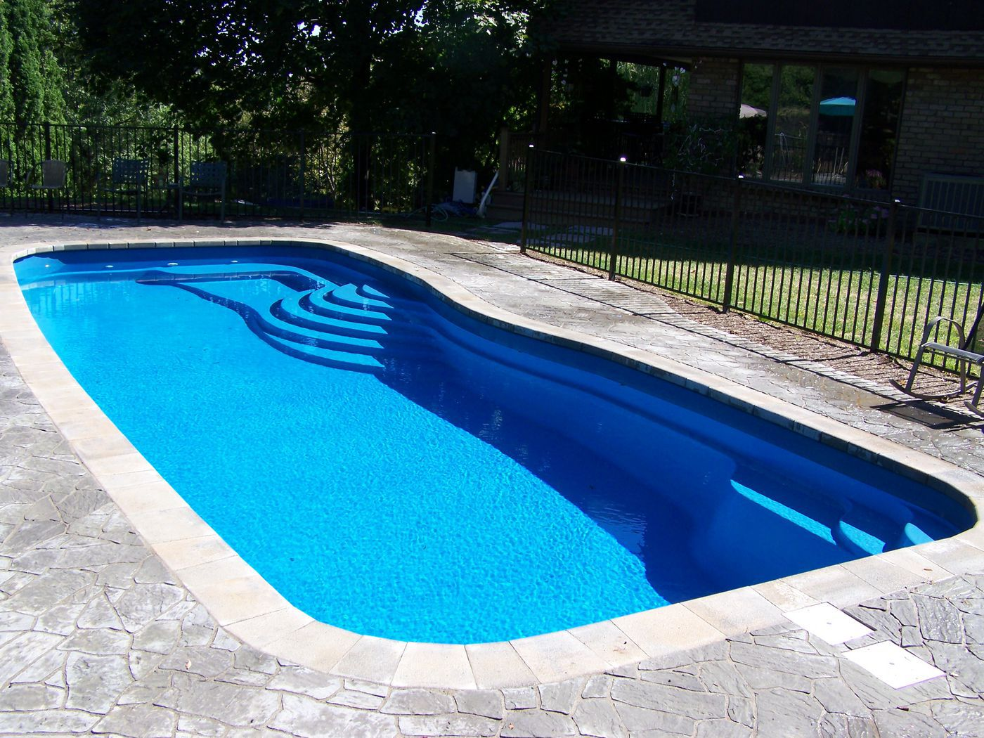 Pacific 2 5 california color for One piece inground swimming pool