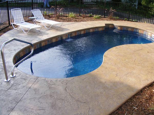 Fiberglass Pool Ideas lake shore rectangular inground swimming pool 8 What Is The Best Small Pool For A Small Yard