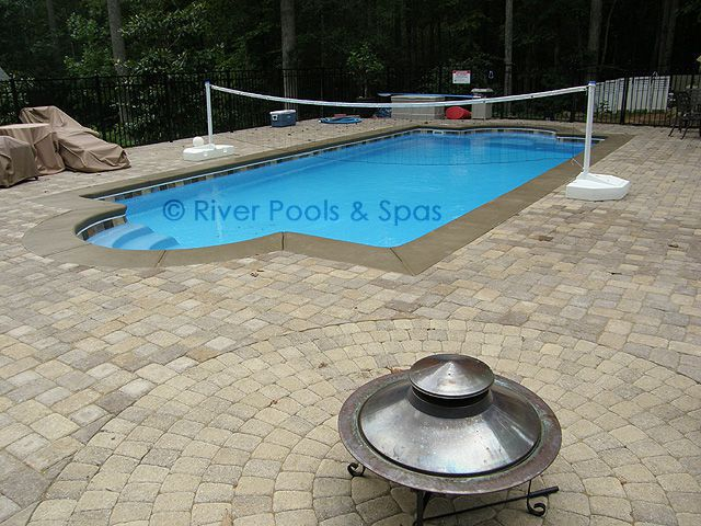 Choosing the right fiberglass pool for you and your family for Pool design for volleyball