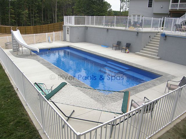 Fiberglass pools plus concrete vinyl and above ground for Above ground fiberglass pools