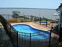 Fiberglass Pool on the water.