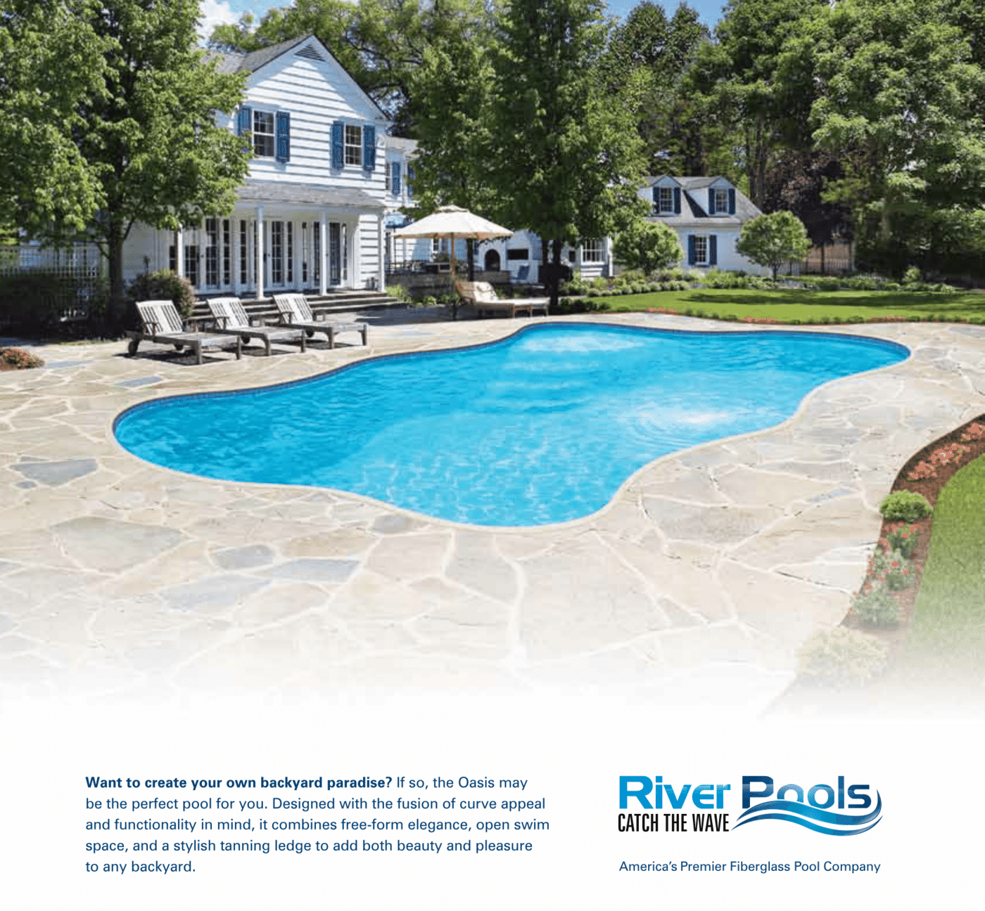Best Freeform Fiberglass Pool