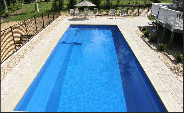 What are the biggest and smallest sizes for fiberglass pools for What is the smallest inground pool size