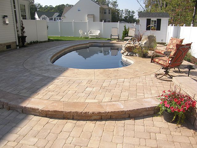 concrete designs for patios floors pictures stamped