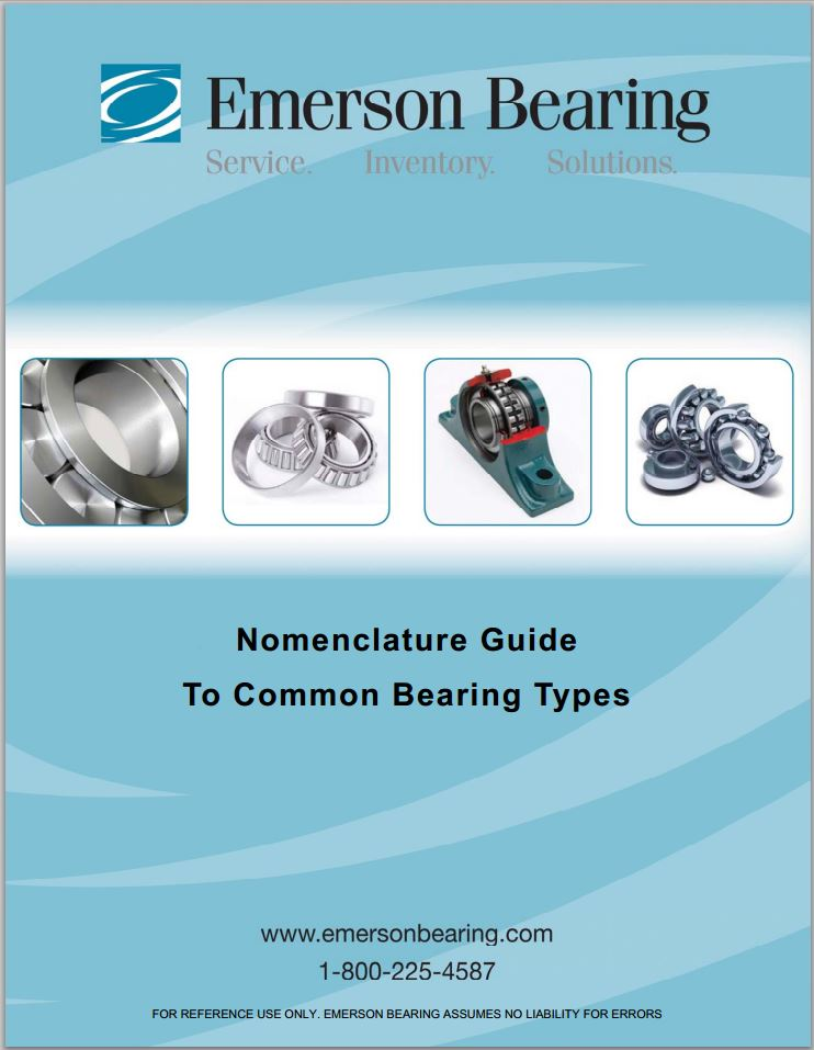 Emerson Nomenclature Guide to Common Bearing Types