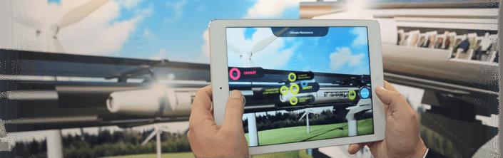 Hyperloop Augmented Reality Wall