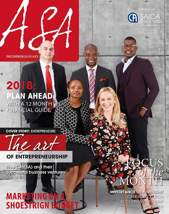 OUR CEO, MARIUS VAN NIEKERK, FEATURED IN THE SOUTH AFRICAN CHARTERED ACCOUNTANTS OF SOUTH AFRICA MAGAZINE