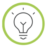 Idea icon in a green circle