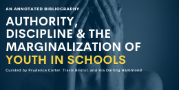 Authority Discipline and The Marginalization of Youth in Schools