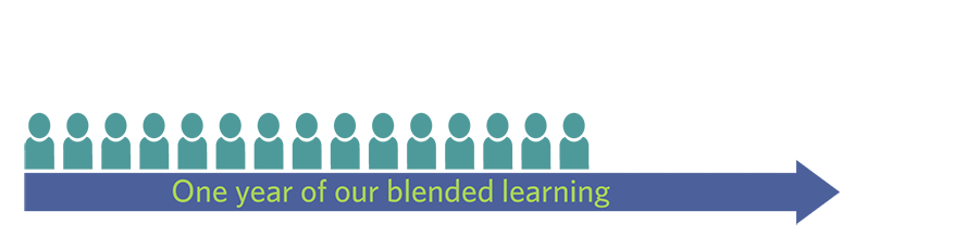 One year of the Education elements Blended Learning