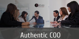 The Importance of Being an Authentic COO