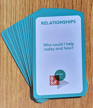 wellbeing cards to help positive conversations
