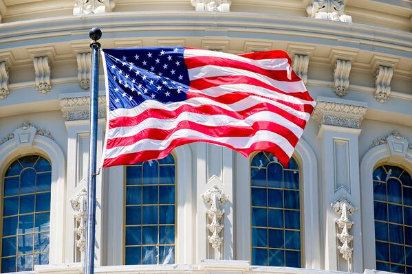 Flag and Capitol Building