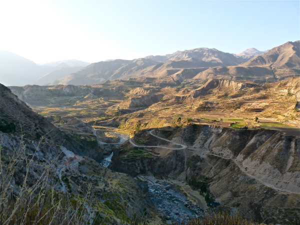Colca Canyon sunset view in Peru