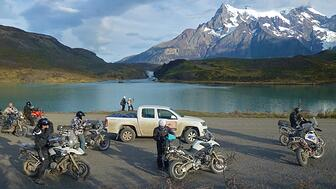Patagonia motorcycle trip in Torres del Paine