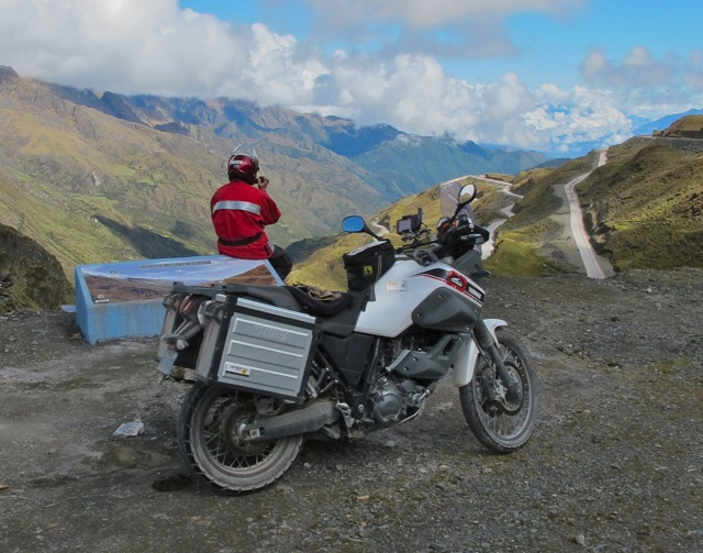 Motorcycle Rider view in Valley of Peru