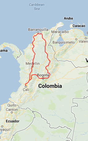 Colombia Motorcycle Tour