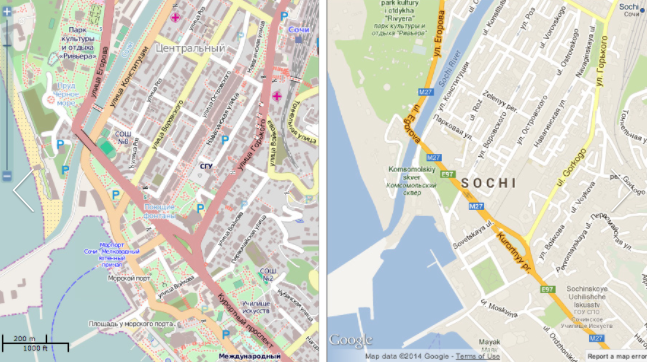 crowdsourcing osm v google map