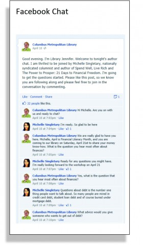 Facebook Chats - Columbus Libraries