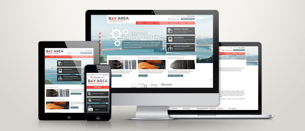 full responsive website design on computers