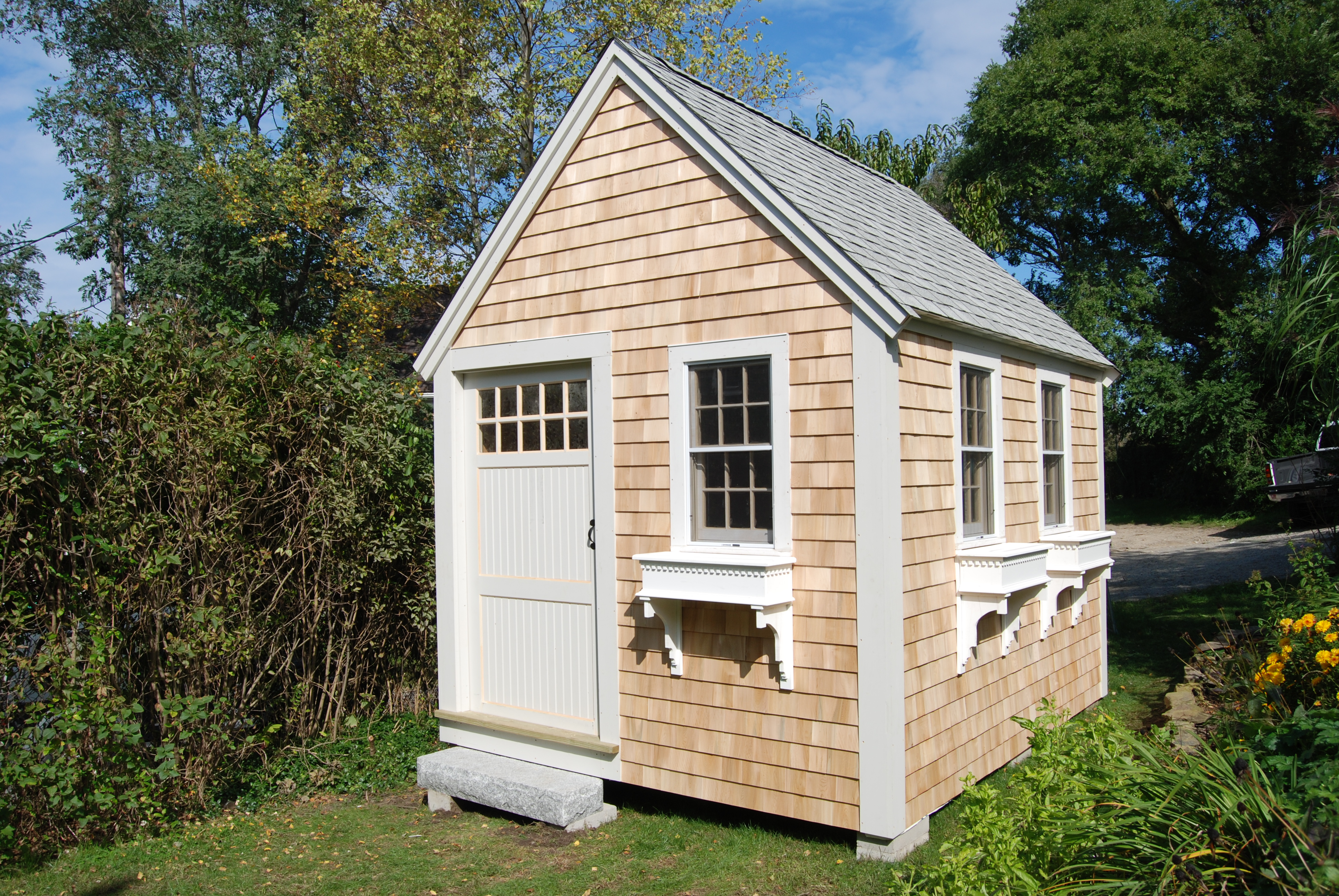 Sheds sheds cape cod for Cape cod cabin