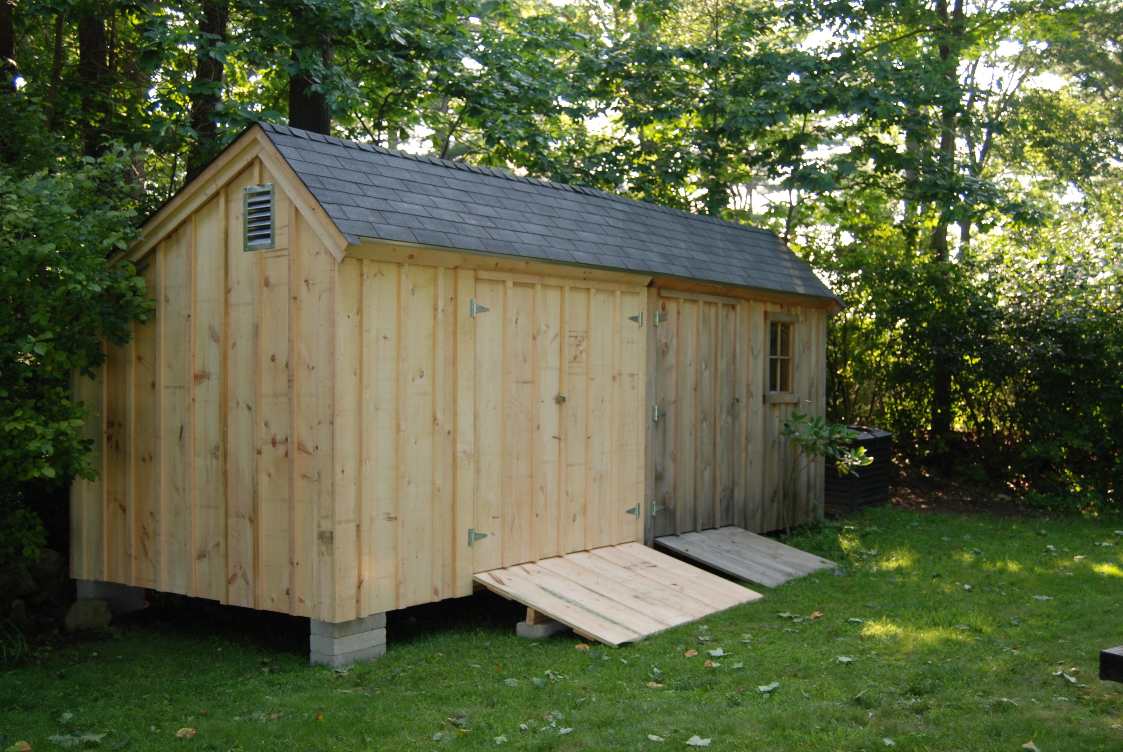Salt box design for Saltbox sheds