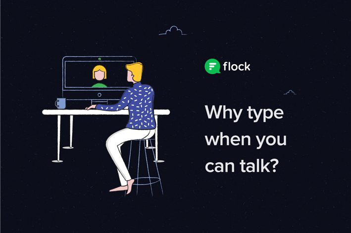 Video conferencing in Flock helps teams work from home