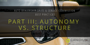 Auto Dealership Sales and Service Commissions Best Practices: Part III