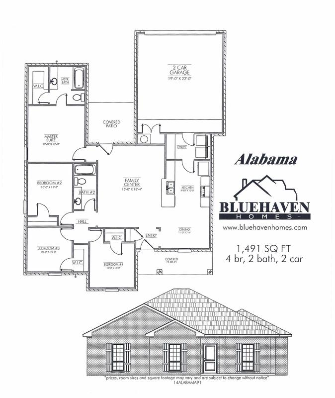 Alabama floor plan for 500 hillside terrace bessemer al