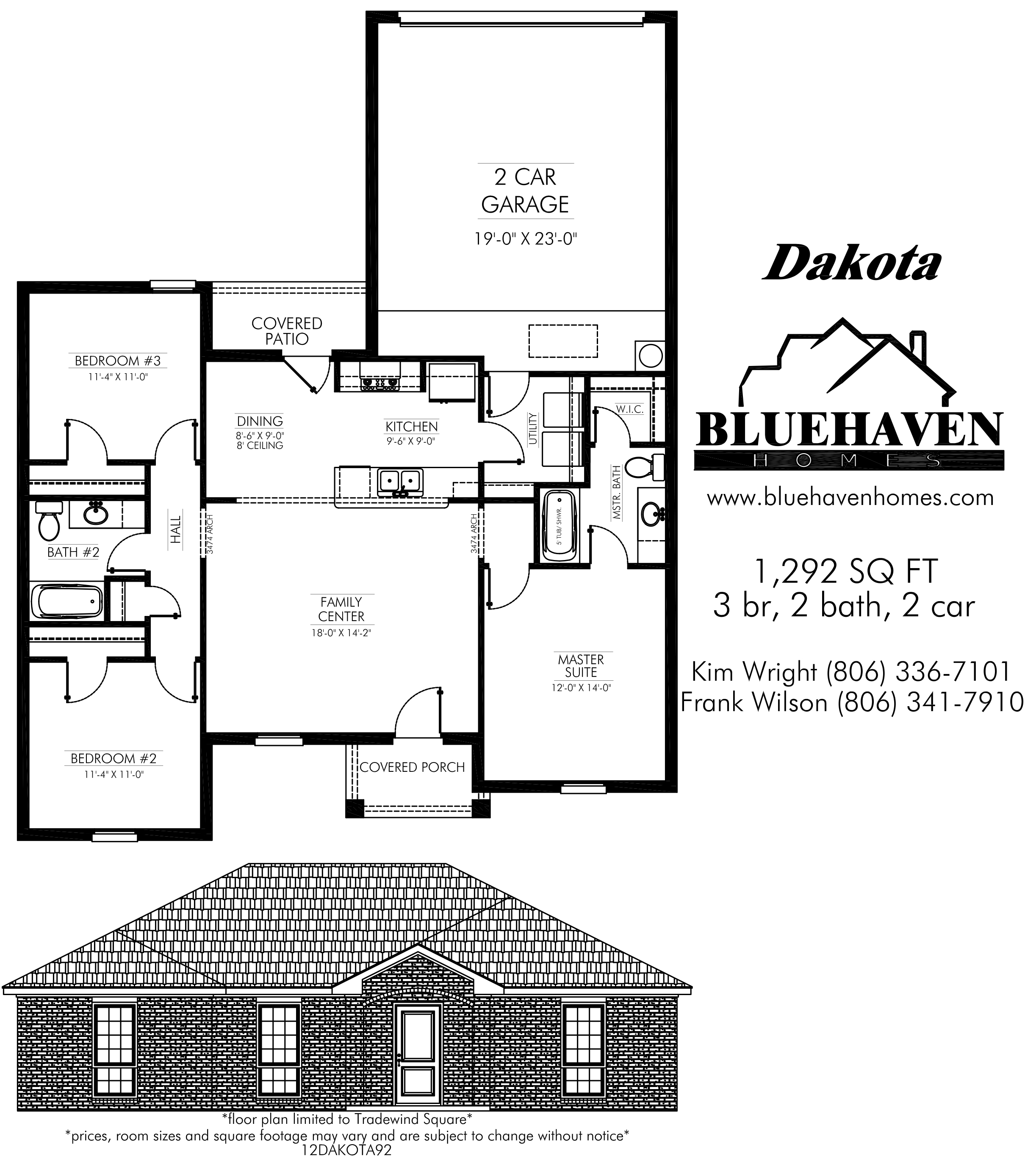 Dakota floor plan for Dakota floor plan