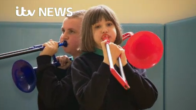 ITV News reports on special needs school's pBand