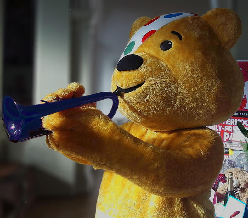 pCornet and Pudsey support Children in Need Brassbandathon