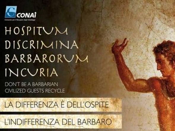 A Pompei i turisti riciclano, e l'arte ringrazia.