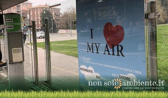 """A Reggio Emilia arrivano le fermate bus che """"respirano"""""""