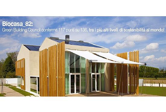 BioCasa_82: primo caso studio, equivalente LEED PLATINUM e analisi carbon footprint da record!